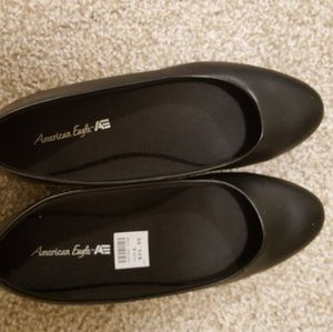 Pointy Black flats size 6
